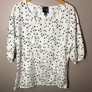 GAP + Alice Ritter Star Print Shirt Size S